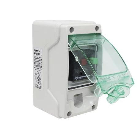 Eletriza - Eletriza Materiais Elétricos, Hidráulicos e Automação Industrial - CHAVE DE PARTIDA DIRETA MANUAL EM COFRE IP65 220V REGULAGEM 2,5-4A LE1GZ1M08 SCHNEIDER