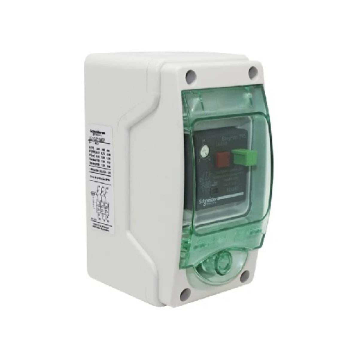 CHAVE DE PARTIDA DIRETA MANUAL EM COFRE IP65 220V REGULAGEM 2,5-4A LE1GZ1M08 SCHNEIDER
