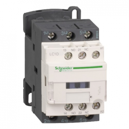 CONTATOR 3P 12A 1NA+1NF  24VDC LC1D12BD SCHNEIDER