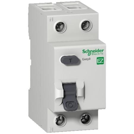 Eletriza - Eletriza Materiais Elétricos, Hidráulicos e Automação Industrial - INTERRUPTOR DIFERENCIAL RESIDUAL DR 2P 63A 30MA EASY9  EZ9R33263 SCHNEIDER