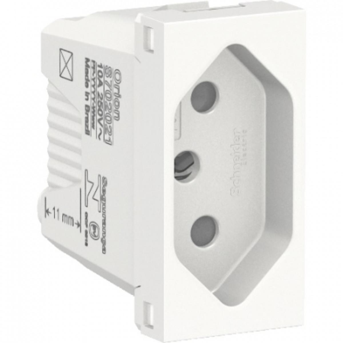Eletriza - Eletriza Materiais Elétricos, Hidráulicos e Automação Industrial - ORION MODULO TOMADA 2P+T 4X2 10A 250V PL/BR SCHNEIDER