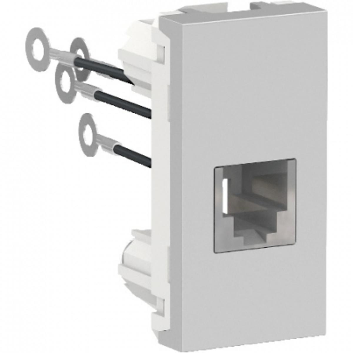 Eletriza - Eletriza Materiais Elétricos, Hidráulicos e Automação Industrial - ORION MODULO TOMADA RJ11 (4 FIOS) 1M AL SCHNEIDER
