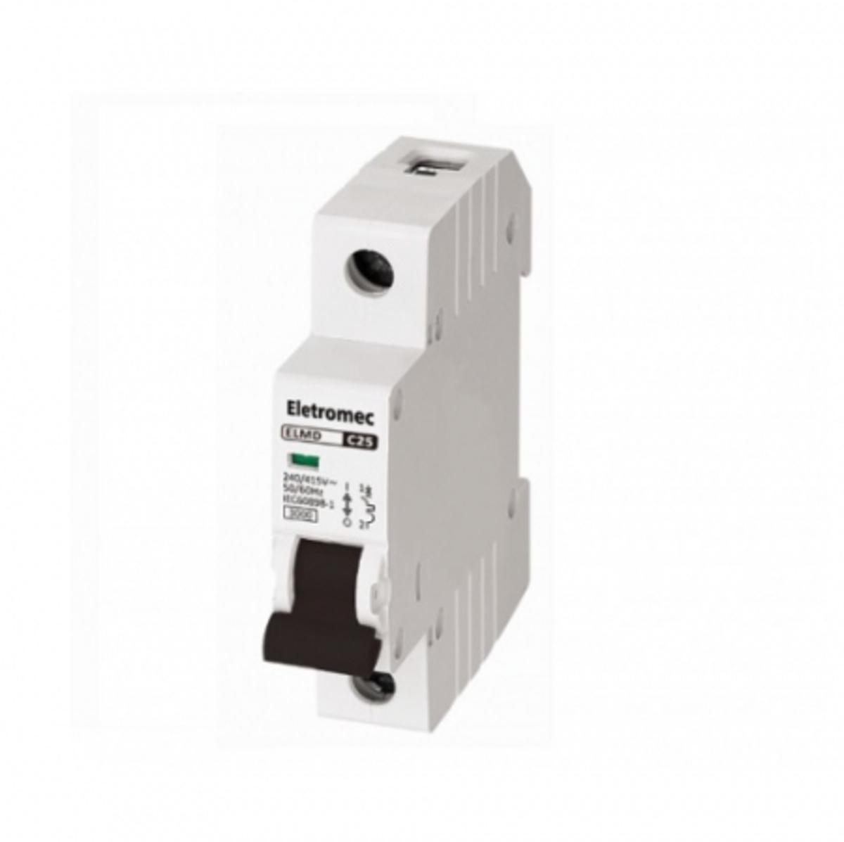 Eletriza - Eletriza Materiais Elétricos, Hidráulicos e Automação Industrial - MINI DISJUNTOR 1P 04A 3KA CURVA C ELMD1C4 ELETROMEC