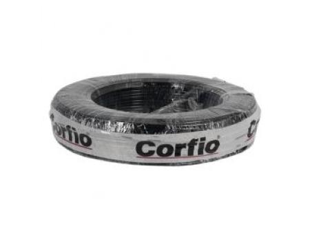 CABO FLEXÍVEL 10,0mm² 750V PRETO ROLO 100 METROS CORFIO