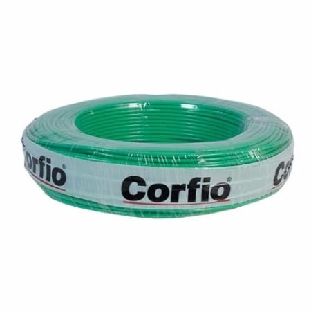 CABO FLEXÍVEL 10,0mm² 750V VERDE ROLO 100 METROS CORFIO