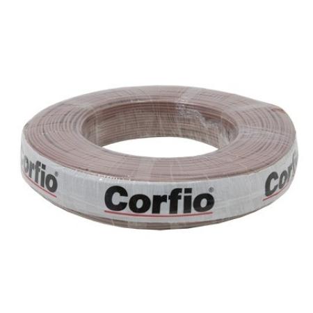 CABO FLEXÍVEL 2,5mm² 750V MARROM ROLO 100 METROS CORFIO
