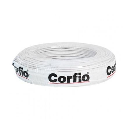 CABO FLEXÍVEL 10,0mm² 750V BRANCO COM 100 METROS CORFIO
