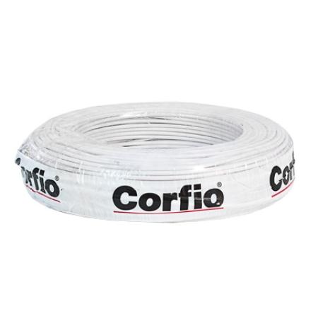 CABO FLEXÍVEL 4,0mm² 750V BRANCO ROLO 100 METROS CORFIO