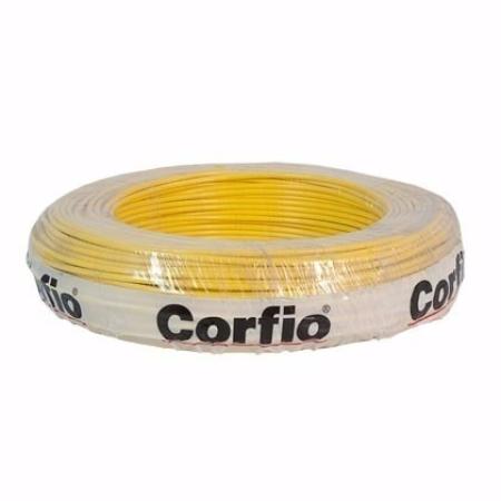 CABO FLEXÍVEL 6,0mm² 750V AMARELO ROLO 100 METROS CORFIO