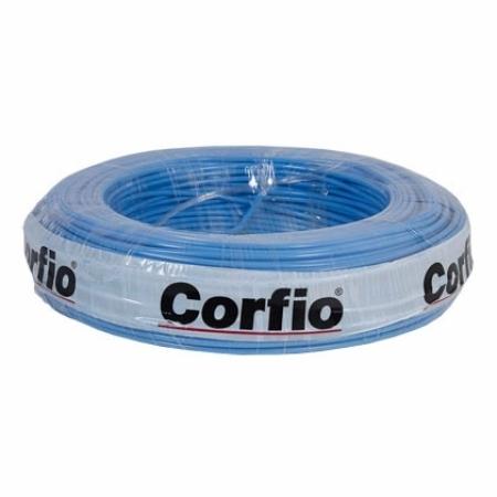 CABO FLEXÍVEL 6,0mm² 750V AZUL ROLO 100 METROS CORFIO