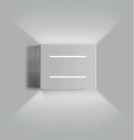 ARANDELA BOX LINEA 1 X G9 BRANCA 3314 OPL