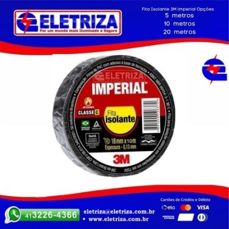 FITA  ISOLANTE 3M IMPERIAL 10 METROS  PRETA