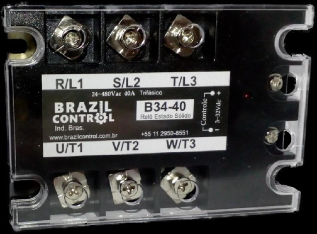 RELE DE ESTADO SOLIDO 40A 3-32 VDC 40A BRASIL CONTROL