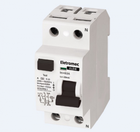 INTERRUPTOR DIFERENCIAL RESIDUAL DR 2P 40A 30MA ELDR-240-30 EATON / ELETROMEC