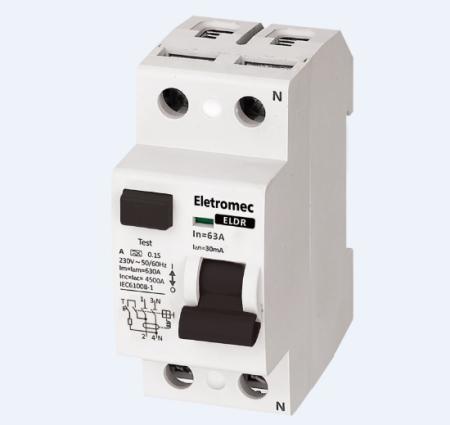 INTERRUPTOR DIFERENCIAL RESIDUAL DR 2P 63A 30MA ELDR-263-30 EATON / ELETROMEC