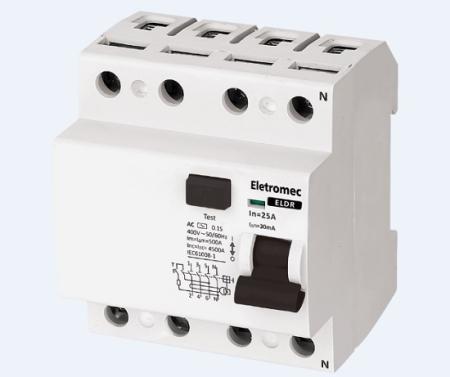 INTERRUPTOR DR 4P 25A 30MA 400V ELETROMEC