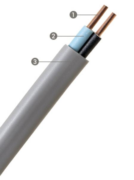 CABO PLASTICHUMBO 2x1,5mm² CINZA CORFIO