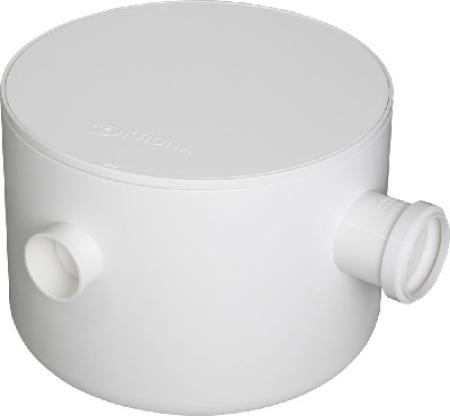 CAIXA SIFONADA PVC NRº24 REDONDA 250x230x75mm BRANCA COM TAMPA KRONA