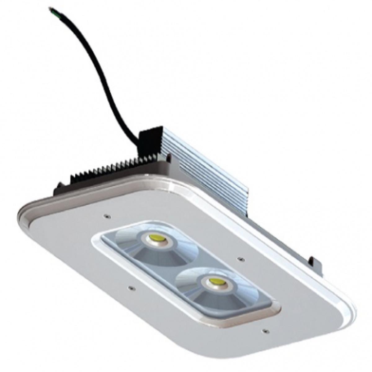 LUMINÁRIA LED 100W POSTO GASOLINA 10800LM 120º 6000K IP65 IRC 80 ZL-3205  (2X50W) ZAGONEL