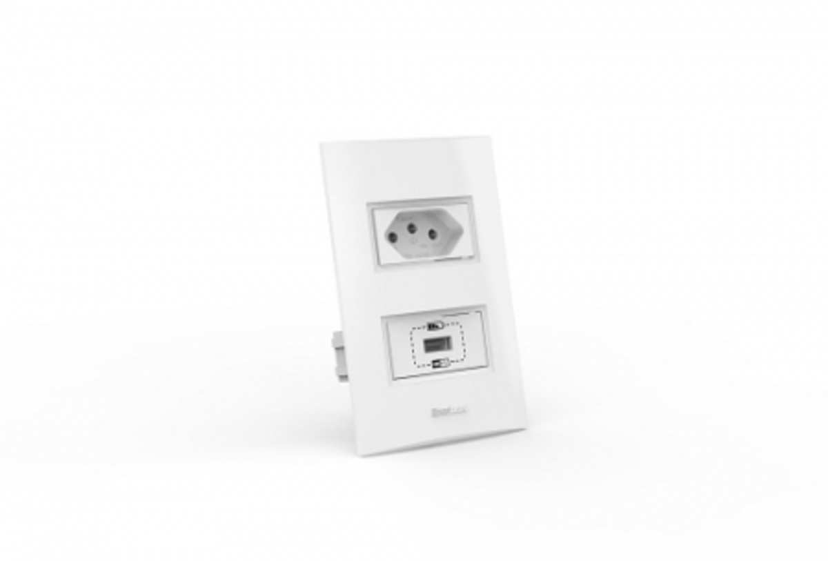CONJUNTO TOMADA USB+TOMADA 10A BELEZE 1481-E ENERBRAS