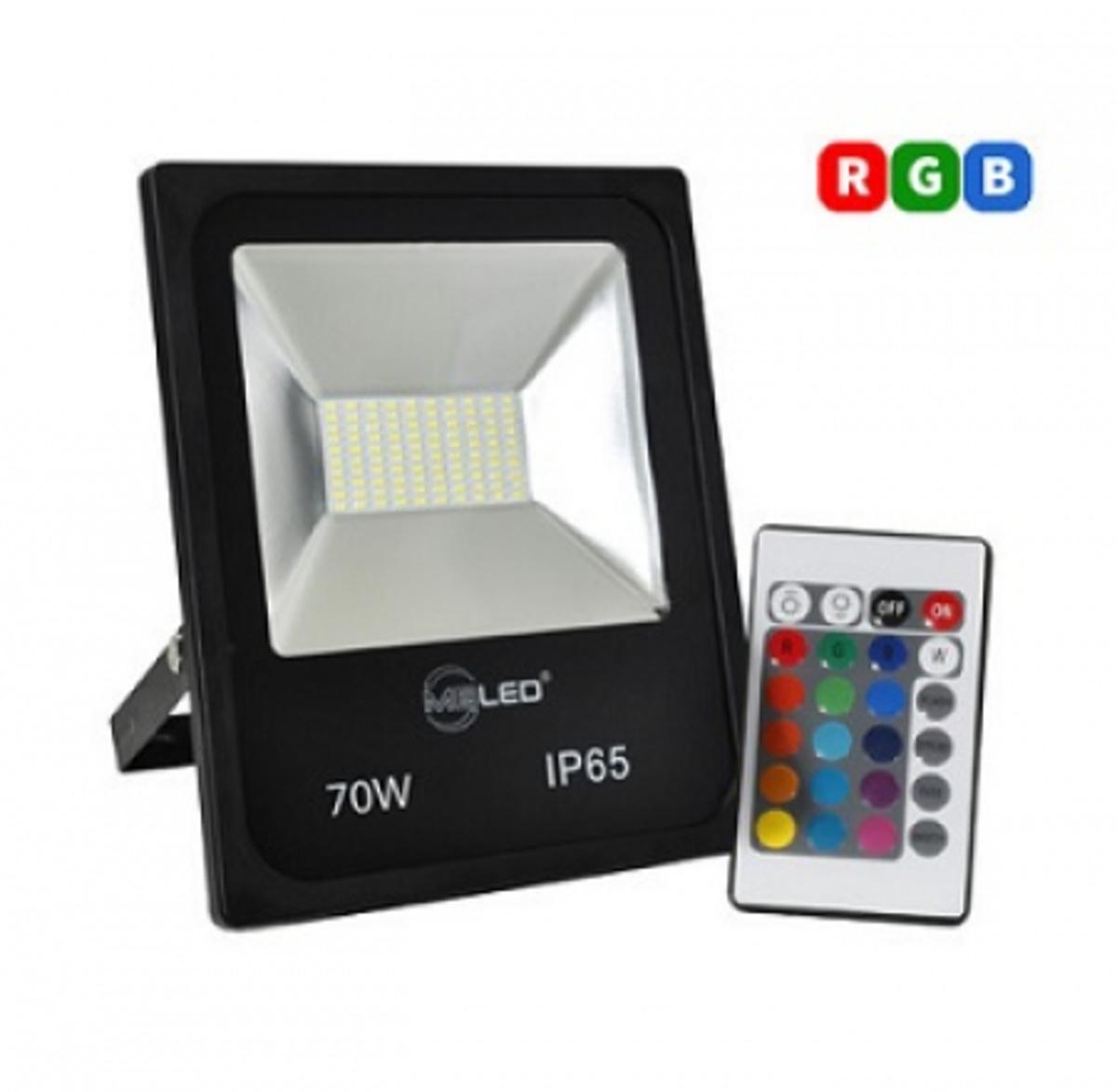 REFLETOR SLIM DE LED RGB 70W BIVOLT MBLED