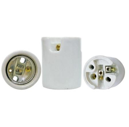 Eletriza - Eletriza Materiais Elétricos, Hidráulicos e Automação Industrial - BOCAL DE PORCELANA PARA REFLETOR E-27 DECORLUX