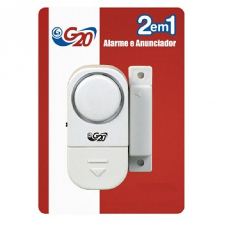 ALARME DE JANELA COM ANUNCIADOR DE PRESENÇA BATERIA LR44 1,5V G20